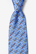 Light Blue Silk Crew Tie