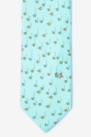 Deep Sea Dining Light Blue Tie