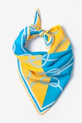 Light Blue Silk Feeling Knotty Neckerchief