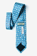 Have an Ice Christmas Light Blue Tie Photo (1)