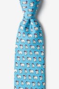 Have an Ice Christmas Light Blue Tie Photo (0)