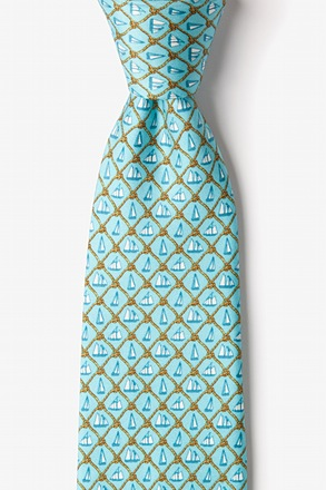 _Knot Enough Sailing Light Blue Tie_