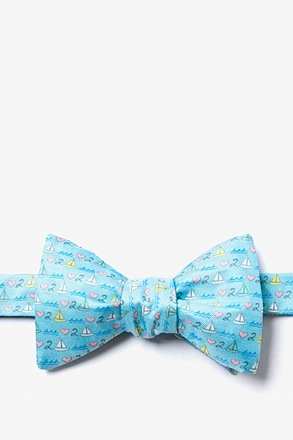 Love 2 Sail Light Blue Self-Tie Bow Tie