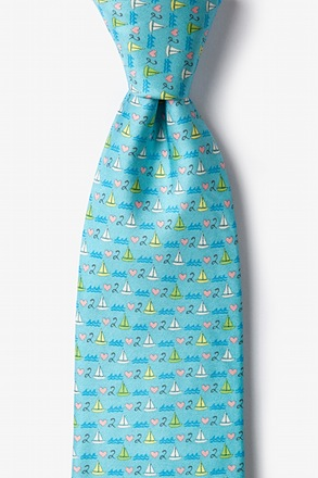 Love 2 Sail Light Blue Tie