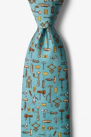 Love to Screw Light Blue Tie