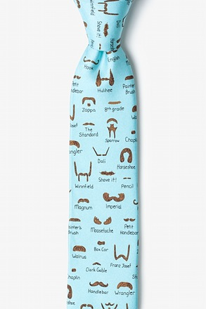 Moustache Field Guide Skinny Tie