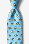 Pirate Ships Light Blue Tie Photo (1)