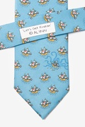 Pirate Ships Light Blue Tie Photo (2)