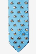 Pirate Ships Light Blue Tie Photo (0)