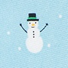 Light Blue Silk Snowmen in the Snow Tie