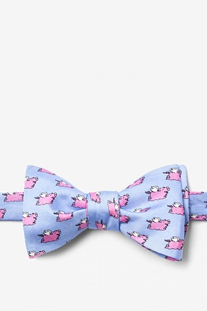 When Pigs Fly Self-Tie Bow Tie