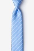 Light Blue Silk Yapen Skinny Tie