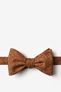 Light Brown Cotton Galveston Butterfly Bow Tie