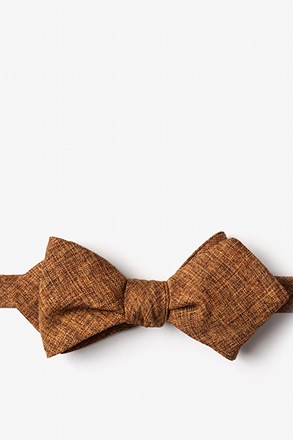 _Galveston Light Brown Diamond Tip Bow Tie_