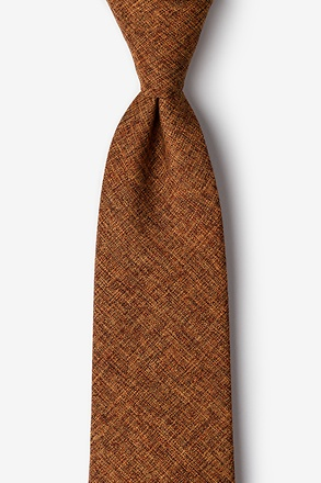 _Galveston Light Brown Extra Long Tie_