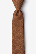 Light Brown Cotton Galveston Skinny Tie