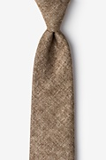 Light Brown Cotton Yuma Extra Long Tie