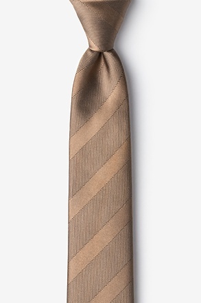 _Granham Light Brown Skinny Tie_