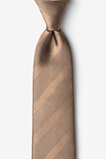 Light Brown Silk Granham Tie