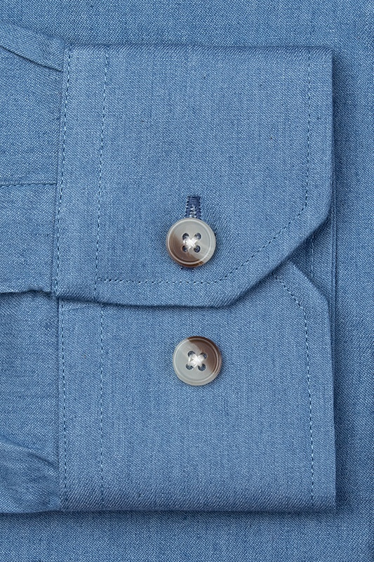 Liam Chambray Classic Fit Untuckable Dress Shirt