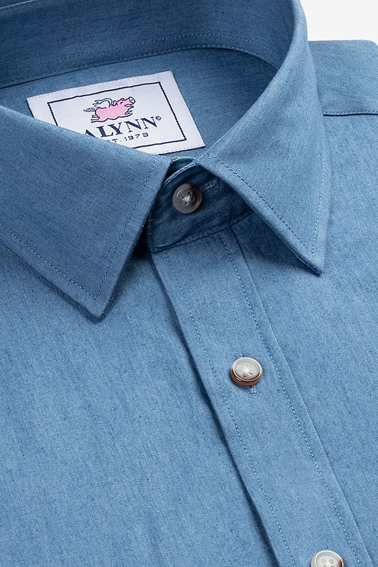 Liam Chambray Slim Fit Untuckable Dress Shirt