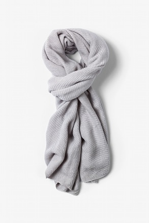 Light Gray Sheffield Scarf