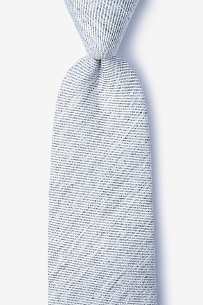 _Beau Light Gray Extra Long Tie_