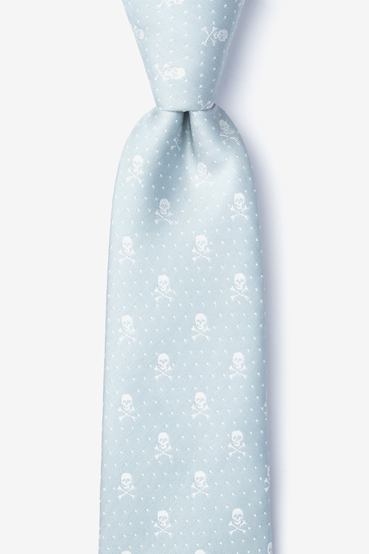 Skull and Polka Dot Extra Long Tie