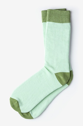 Hollywood Solid Light Green Sock