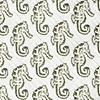 Light Green Microfiber Seahorses Extra Long Tie