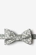 Light Green Microfiber Seahorses Self-Tie Bow Tie