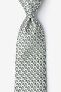 Light Green Microfiber Seahorses Tie