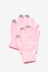 Light Pink Acrylic Texting Gloves