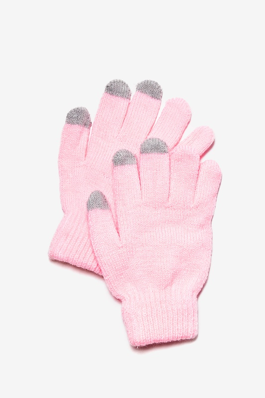 Texting Light Pink Gloves by Scarves.com