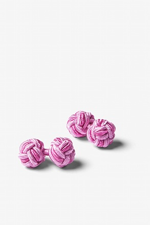 Light Pink And Pink Knot Cufflinks