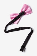 Metal-Tipped Light Pink Pre-Tied Bow Tie Photo (1)