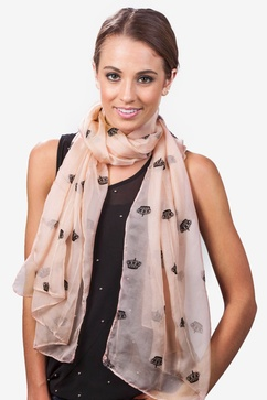 Velvet Crowns Light Pink Scarf
