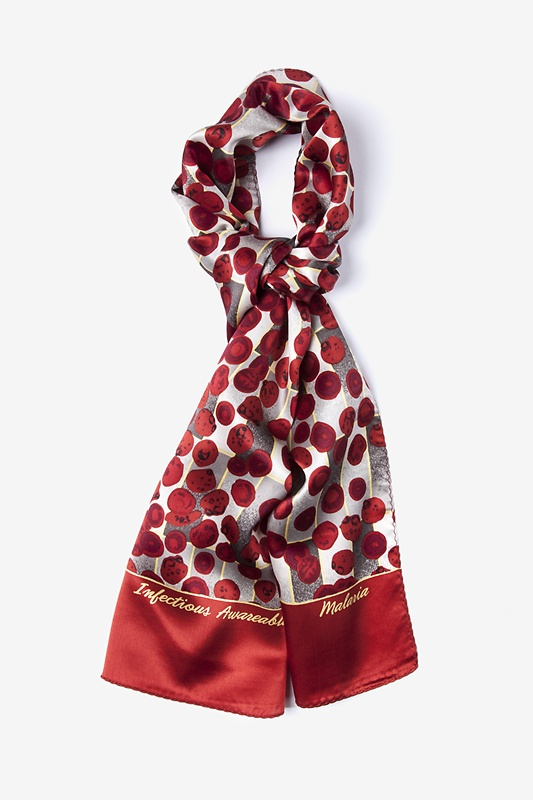 Malaria Oblong Scarf by Infectious Awareables