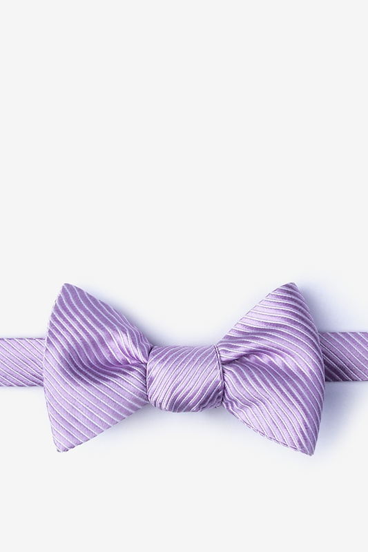 Rene Lilac Self-Tie Bow Tie Photo (0)