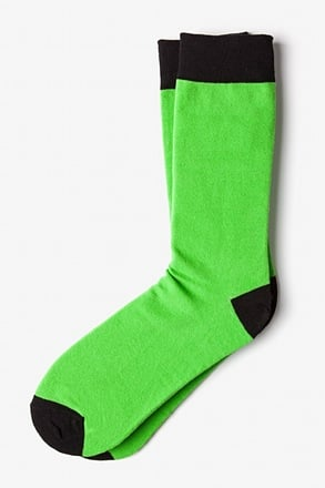 _Lime Green Irvine Sock_