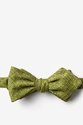 Lime Green Cotton Galveston Diamond Tip Bow Tie