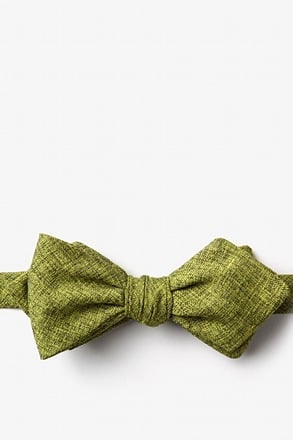 Galveston Lime Green Diamond Tip Bow Tie