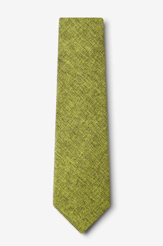 Galveston Lime Green Extra Long Tie Photo (1)