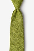 Lime Green Cotton Galveston Extra Long Tie