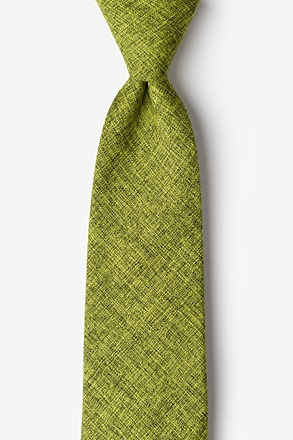 _Galveston Lime Green Extra Long Tie_