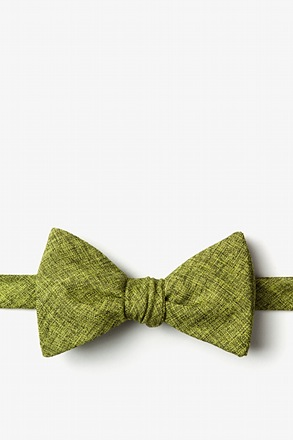 Galveston Lime Green Self-Tie Bow Tie