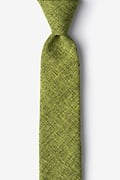 Lime Green Cotton Galveston Skinny Tie