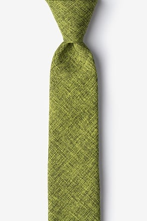 _Galveston Lime Green Skinny Tie_