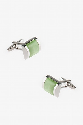 Rectangular Framed Gem Cufflinks