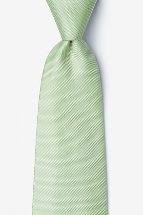 Lime Green Textured Long Tie